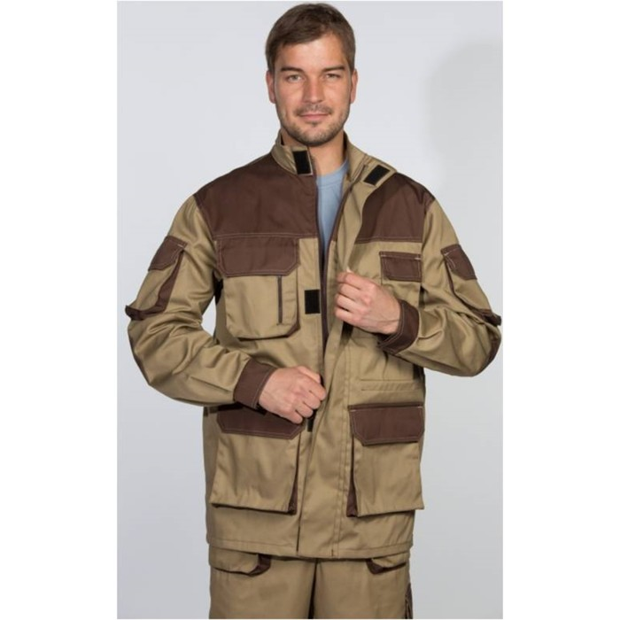 Kуртка «Терра» бежевая, размер 56-58/182-188