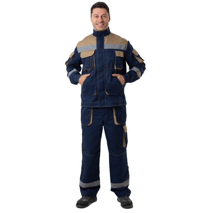 Kуртка «Терра» (пилот) с СОП синяя, размер 60-62/170-176
