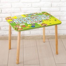 Стол с деревянными ножками «Алфавит 6» Ош