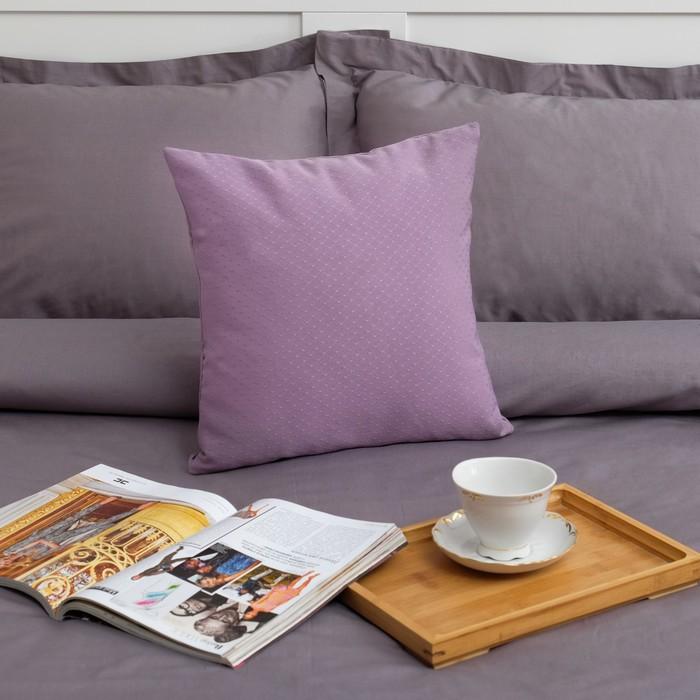 """Декоративная подушка """"Этель"""" 40х40 см, Английский стиль, цвет сиреневый, 100% п/э"""