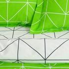 Постельное бельё 1,5 сп. Этель Люкс «Лайм» 150×210 см, 150×220 см, 50×70 + 5 см - 2 шт, сатин, 100% хл, 130 г/м² - Фото 2