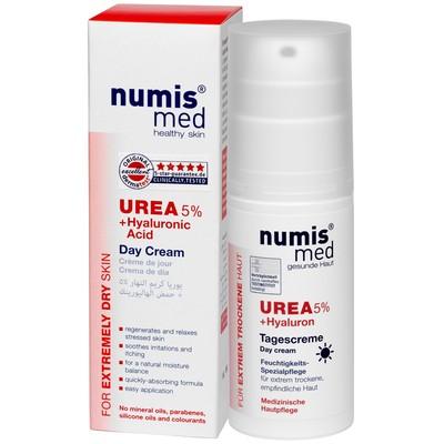 Дневной крем Numis Med с 5% мочевиной и гиалуроновой кислотой, 50 мл - Фото 1