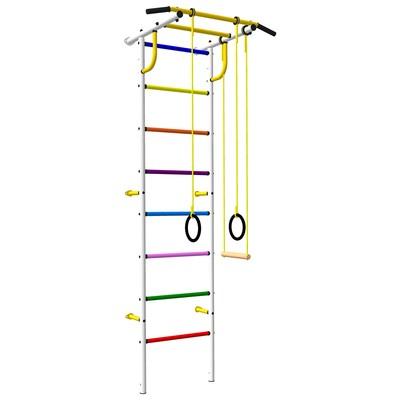 Детский спортивный комплекс «Роки-Ленд» с цветными ступенями, 830 × 670 × 2180 мм, цвет белый - Фото 1