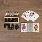 """Набор подарочный """"Защитнику"""": домино и карты, 15х21.5 см - Фото 1"""