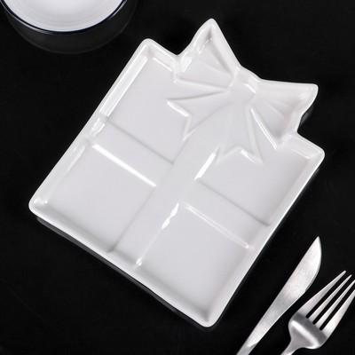 Блюдо для закусок 4 секции Доляна «Глория», 15×15 см - Фото 1