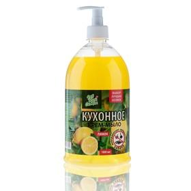Жидкое мыло кухонное «Для всей семьи» Нежное Лимон, 1 л.