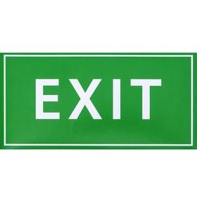 Наклейка знак 'EXIT', 20х10 см Ош