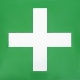 Наклейка знак 'Аптечка', 20х20 см Ош