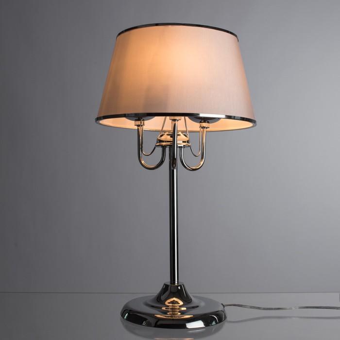 Настольная лампа AURORA 3x60Вт E14 хром