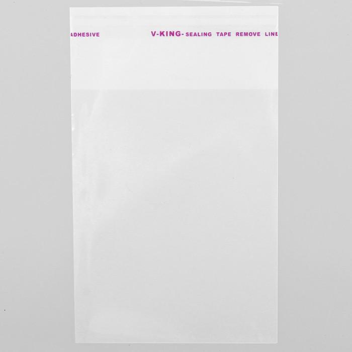 Пакет БОПП с клеевым клапаном 8 х 10/4 см, 25мкм