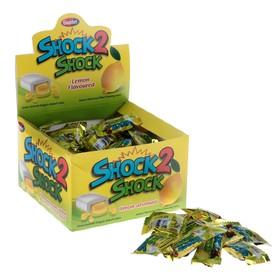 Жевательная резинка Shock 2 Shock Лимон, с жидким центром, 4 г