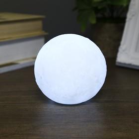 Ночник пластик 'Луна белая средняя' от бат 3LR44 в компл 10х10х9 см Ош