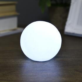 Ночник пластик 'Луна белая маленькая' от бат 3LR44 в компл 7,5х7,5х7 см Ош