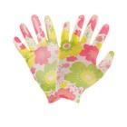 Перчатки нейлоновые, с нитриловым полуобливом, размер 8, цвет МИКС, Greengo - Фото 2