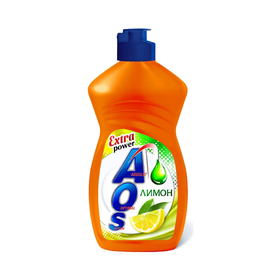 Средство для мытья посуды AOS Лимон, 450 мл