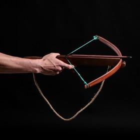 Сувенирное деревянное оружие 'Арбалет', взрослый, коричневый, массив ясеня, 47 см Ош