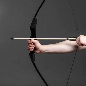 Сувенирное деревянное оружие 'Лук фигурный', взрослый, черный, массив ясеня, 120 см Ош