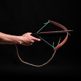Сувенирное деревянное оружие 'Арбалет', взрослый, чёрный, массив ясеня, 47 см Ош