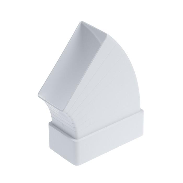 Отвод TUNDRA, для прямоугольного вентиляционного канала, разноугловой, 120 х 60 мм
