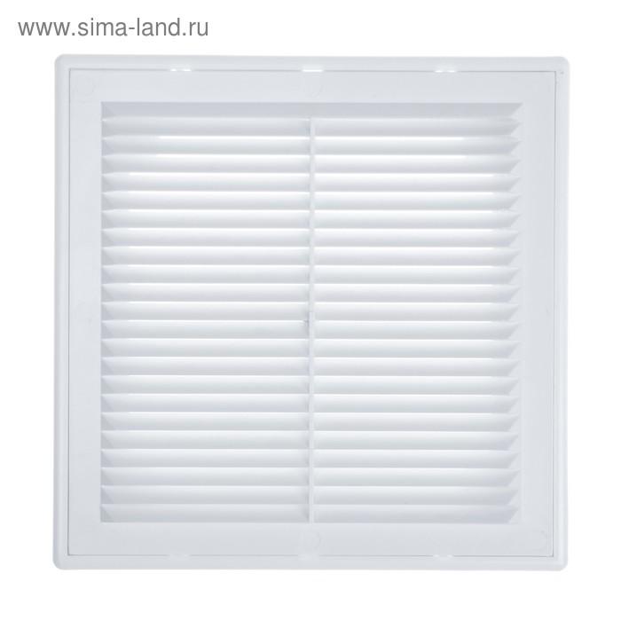 Решетка TUNDRA, разъемная, с москитной сеткой, 215 х 215 мм, белая