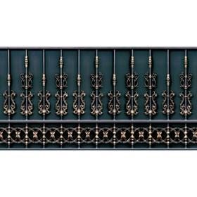 Фотобаннер, 250 × 150 см, с фотопечатью, «Золотой забор» Ош