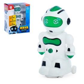Робот «Мини бот», световые и звуковые эффекты, работает от батареек, цвета МИКС