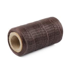 Нитки прошивочные, вощёные, 150D, толщина 0,55 мм, 200 м, светло-коричневые Ош