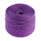 """Пряжа """"Glitz"""" 100% полиэстр 45м/100гр, ширина нити 5 мм (фиолетовый)"""