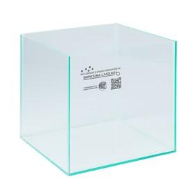 Аквариум куб без покровного стекла, 16 литров, 25 х 25 х 25 см, бесцветный шов Ош