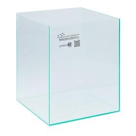 Аквариум куб без покровного стекла, 31 литр, бесцветный шов Ош