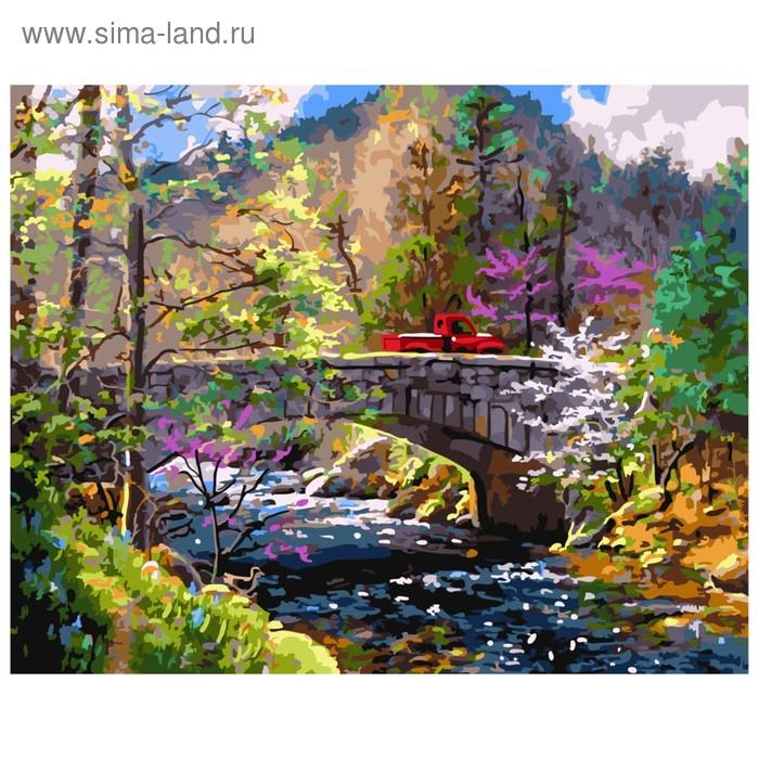 Картина по номерам «Весенние горы»