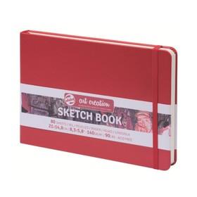 Блокнот для рисунков А5, 80 листов Royal Talens, 140 г/м², твёрдая обложка, красный пейзаж