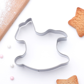 Форма для вырезания печенья 7x7,5x2 см 'Лошадка-качалка' Ош