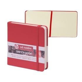 Блокнот для рисунков, квадрат 120х120 мм, 80 листов Royal Talens, твёрдая обложка, 140 г/м², красный