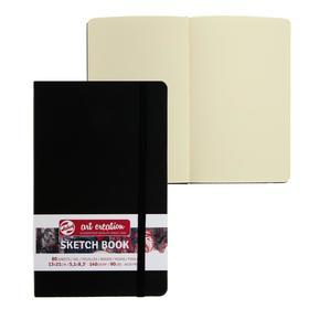 Блокнот для рисунков А5, 130х210 мм, 80 листов Royal Talens, 140 г/м², твёрдая обложка, чёрный