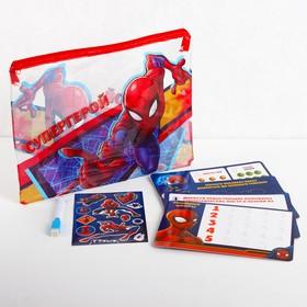 Развивающий набор в PVC папке с наклейками, Человек-паук