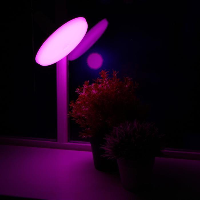 Лампа светодиодная для растений Uniel, U150, Е27, 16 Вт, 150 мм, матовая