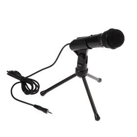 Микрофон Ritmix RDM-120, 30 дБ, 2.2 кОм, разъём 3.5 мм, кабель 1.8 м, черный Ош