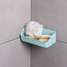 Полка для ванной комнаты на присосках «Вензель», 21×10×6 см, цвет МИКС Ош