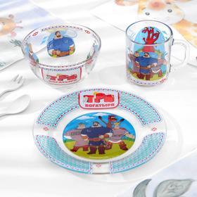 Набор посуды детский Priority «Три богатыря. Богатыри»