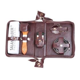 Несессер дорожный для ухода за обувью в сумке из натуральной кожи Ош