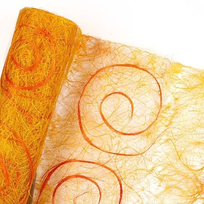 Абака «Спираль» 0,5 х 9 м, жёлто-оранжевый