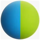 Цветной мяч для большого тенниса, цвета МИКС