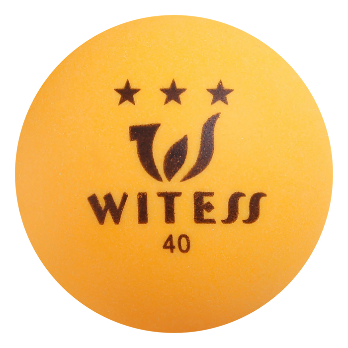 Мяч для настольного тенниса, 3 звезды, цвет жёлтый