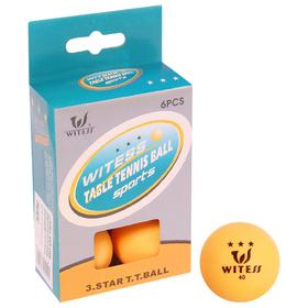 Набор шариков для настольного тенниса WITESS, 3 звезды, набор 6 шт. Ош