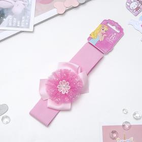 Повязка для волос 'Детство' 4 см цветок блеск Ош