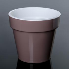 Кашпо со вставкой «Порто», 1 л, цвет мокко