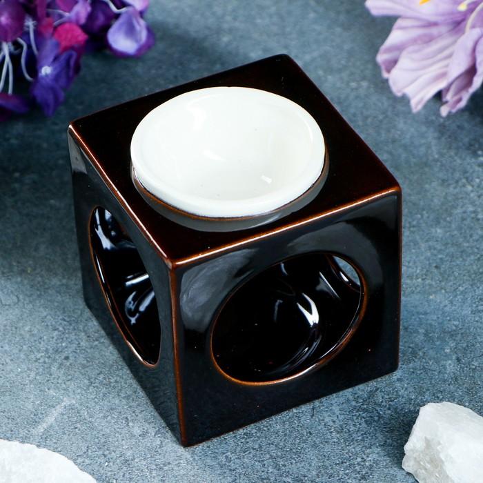"""Аромалампа """"Куб"""" чёрная, 9,5 см"""