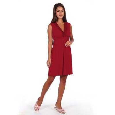 Сорочка женская, цвет бордовый МИКС, размер 48