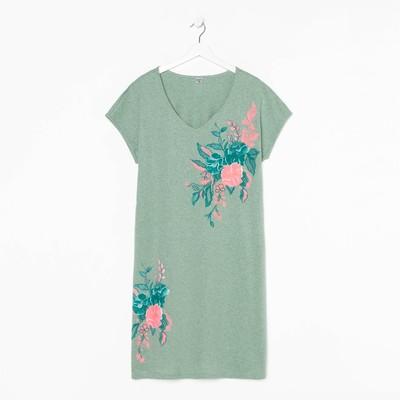 Платье женское «Лилия», цвет пудрово-зелёный меланж, размер 54